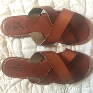 American Eagle Sandals (brown, simple)
